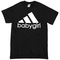 Babygirl adidas logo black t-shirt - basic tees shop