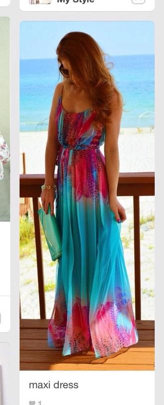 dress aqua maxi dress maxi sleeveless beach