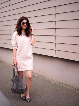samieze blogger sweater dress bag shoes