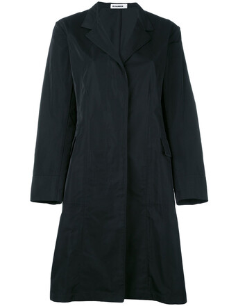 coat women black silk