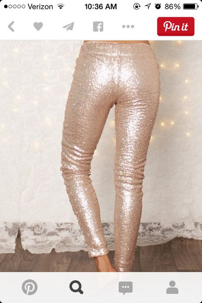leggings sequin champaign