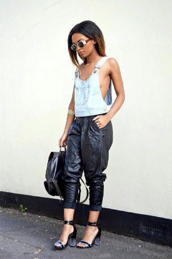 Top: pants, shoes, jewels, bag