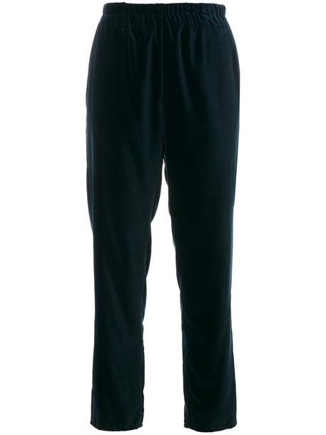 Dusan cropped high women blue pants