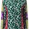 Msgm floral print shirt, women's, size: 42, silk
