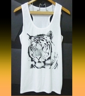 top,bengal titer,bengal tiger,tiger top,animal tank top,racerback tank top