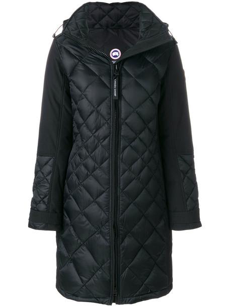 canada goose parka women cotton black coat