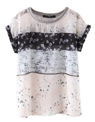 t-shirt top floral summer sheer transparent brenda-shop see through