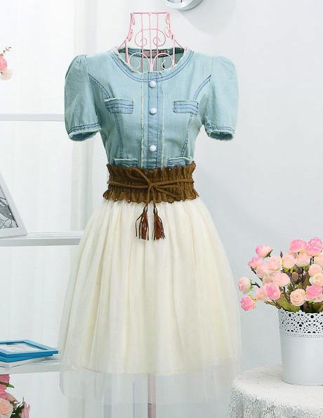 Cute vintage jean dress
