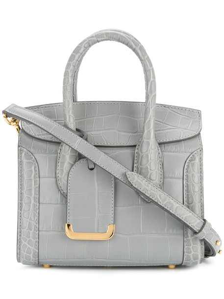 Alexander McQueen - Heroine tote - women - Calf Leather - One Size, Grey, Calf Leather
