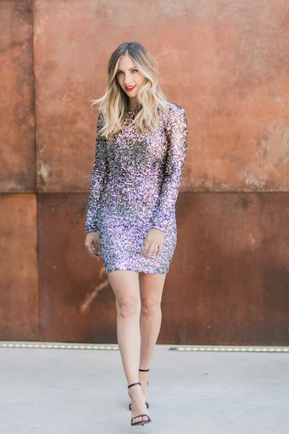 cupcakes and cashmere blogger dress shoes make-up glitter dress sparkly dress christmas new year's eve party dress sandals