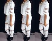 blouse,white,loose,see through,drawstring,cocaine,instagram,atlanta,dope,pretty,classy,pants