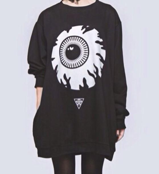 Cute Sweater Quotes: Sweater: Black, White, Kawaii, Cute, Goth, Pastel Goth