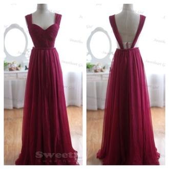dress maroon/burgundy prom dress long dress