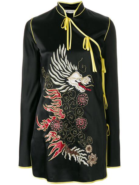 Attico dress mini dress mini embroidered women cotton black