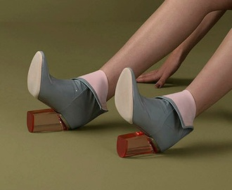 shoes plexiglass heel ankle boots