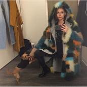 coat,fur coat,willa holland,jacket