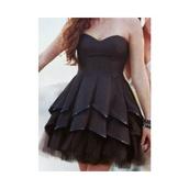dress,little black dress,ruffle