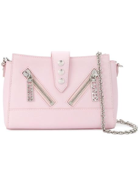 Kenzo women bag shoulder bag leather cotton purple pink