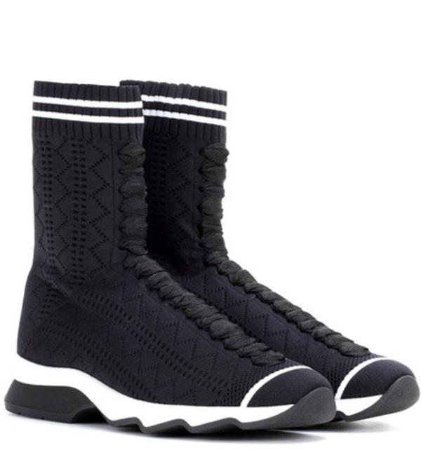 Fendi High-top sneakers in black