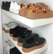 shoes,puma sneakers,puma x rihanna,puma,puma fenty