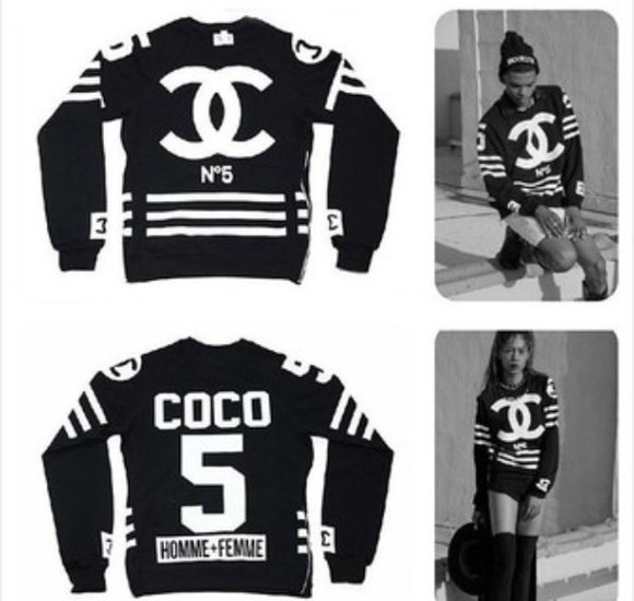 for men sweater chanel black and white for women n°5