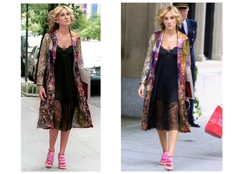 cardigan sex and the city coat colorful carrie bradshaw