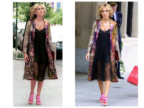 sex and the city carrie bradshaw cardigan coat colorful