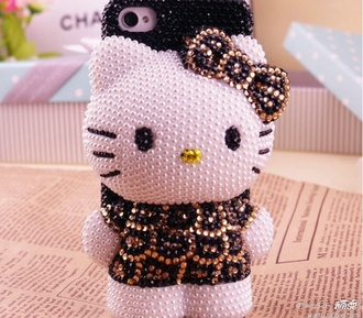 jewels phone cover hello kitty i phone case iphone case iphone 5 case leopard print belt