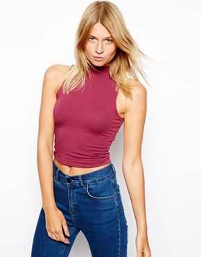 ASOS | ASOS Crop Top with Turtle Neck at ASOS