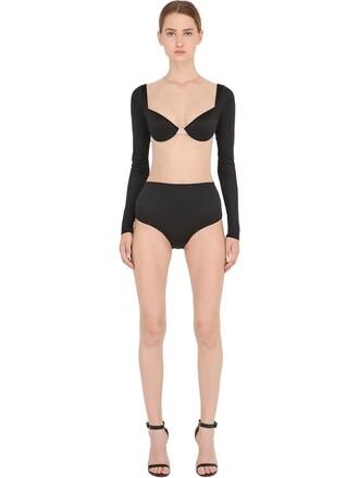 bodysuit nude black underwear