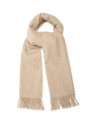 scarf wool light grey