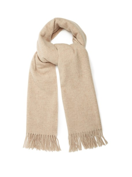 scarf wool light grey