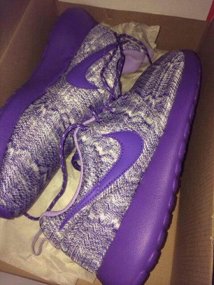 purple nike roshe run nike roshe run knitwear