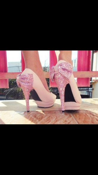 shoes high heels bow high heels studded shoes