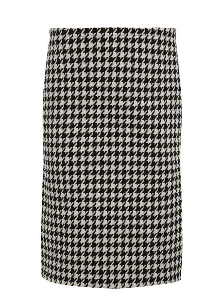 skirt pencil skirt wool white black