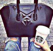bag,givenchy bag,black,leather