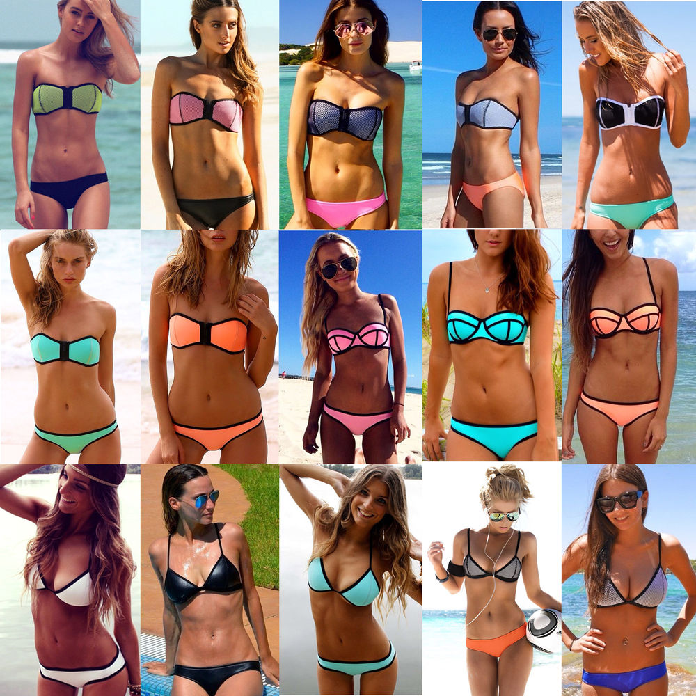 2014 new sexy women's bandage triangle bikini set push