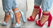 shoes,blue,light blue,heels,thick heel,red,redheels,blue heels,tiffany blue