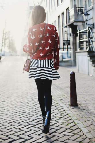 style scrapbook skirt sweater bag shoes