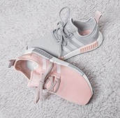 shoes,adidas shoes,sneakers,pink adidas sneaker,adidas,pink,grey,pink sneaker adidas blush