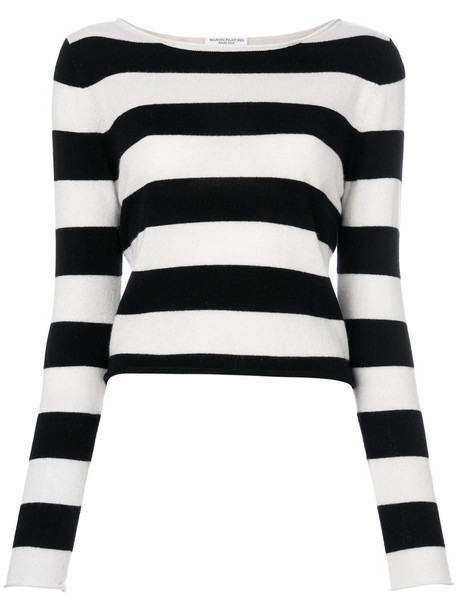 Majestic Filatures sweater striped sweater women white