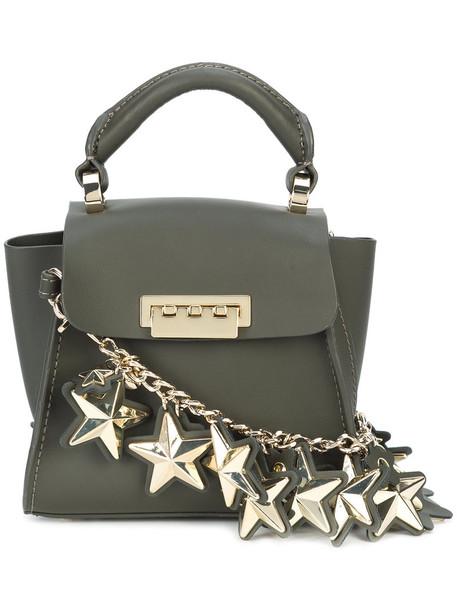 women leather green bag