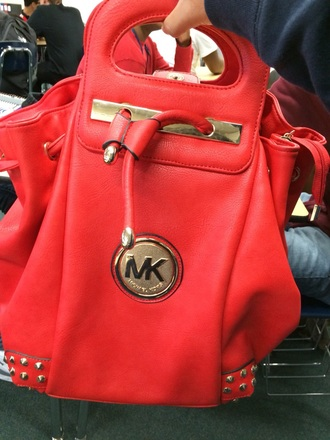 bag red bag michel kors cute living nice need to have