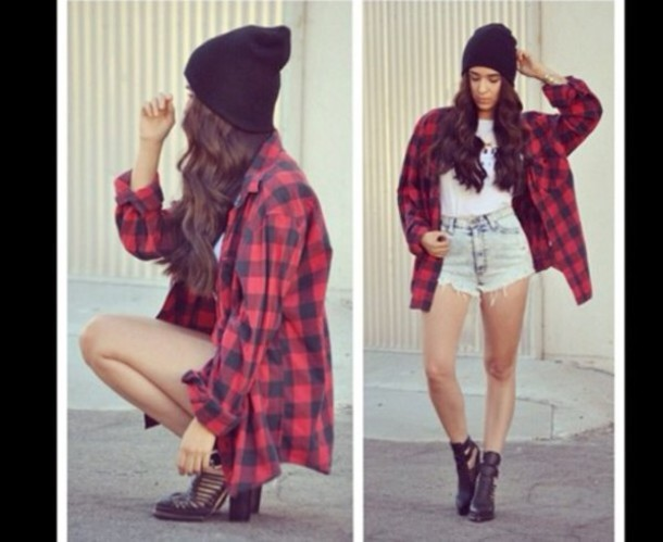 blouse flannel shirt red flannel