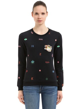sweatshirt mini cotton black sweater