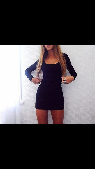 little black dress long sleeve dress long sleeves short coctail dress