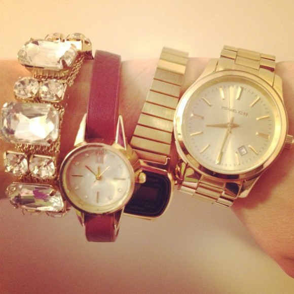 jewels bordeaux gold casio watch michael kors