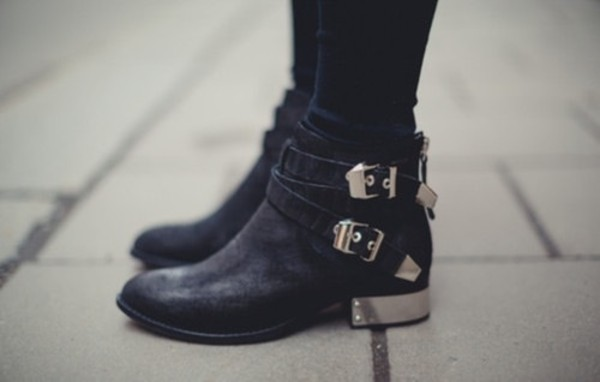 shoes metal heel boots