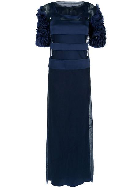 gown women blue dress