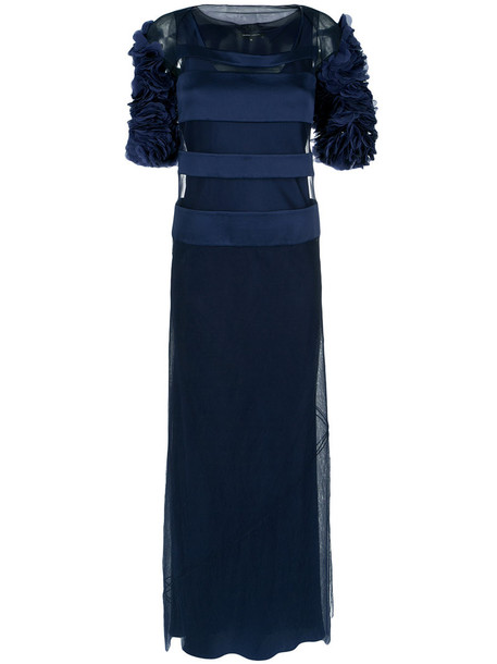 Gloria Coelho gown women blue dress